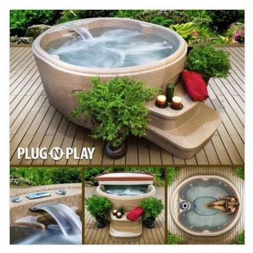 The rock 4 person hot tub jacuzzi massage deck balcony for Balcony hot tub