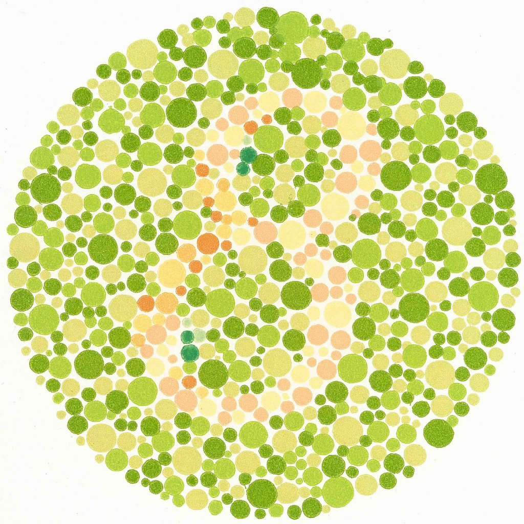 Book for color blindness - Ishihara Color Vision Test
