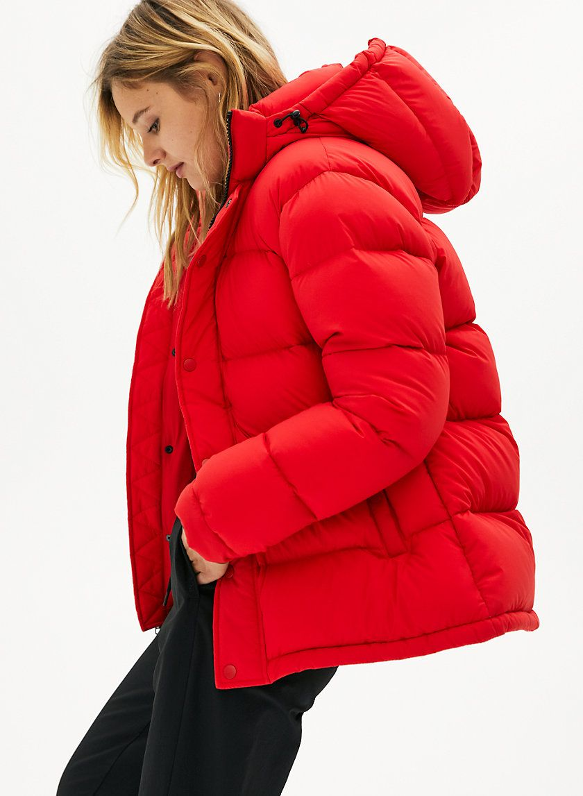 The Super Puff In 2021 Red Puffer Jacket Red Puffer Coat Puffer Jacket Outfit [ 1147 x 840 Pixel ]