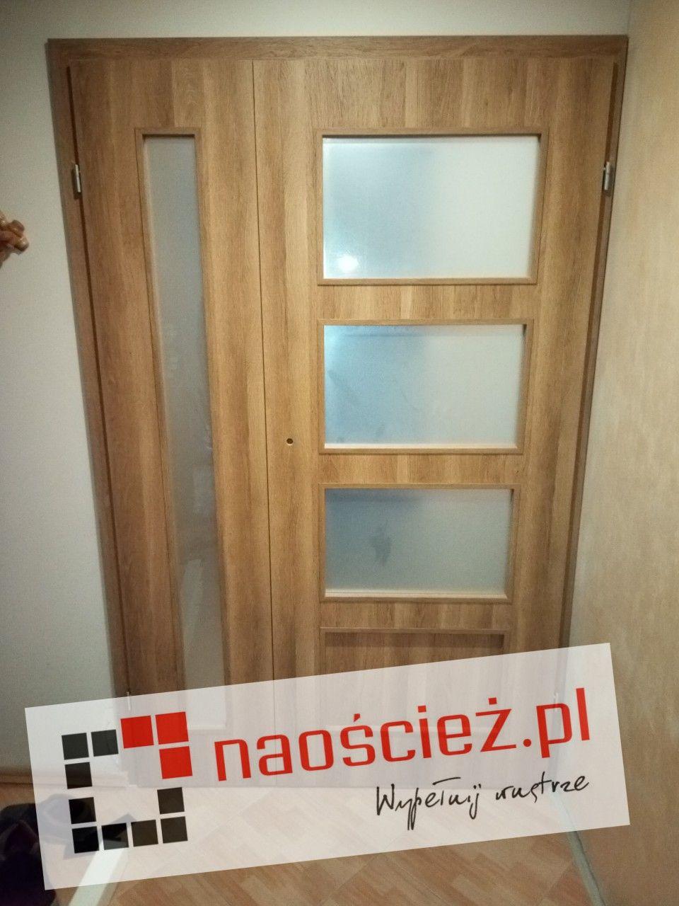 Groovy Drzwi DRE model Modern z dostawką boczną w kolorze dąb polski 3d JJ19