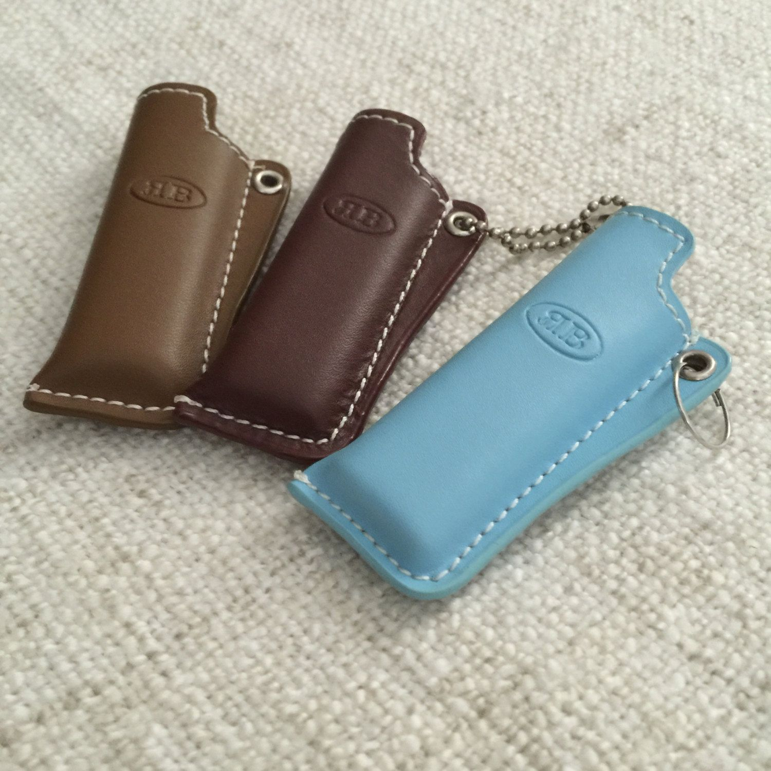 Top Stitched Genuine Leather Lighter Cover Case by ENGARLAND on Etsy