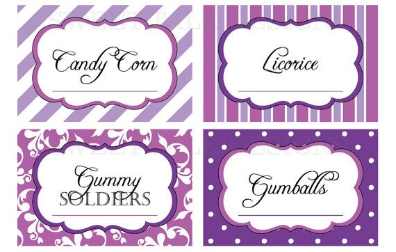 printable candy buffet labels