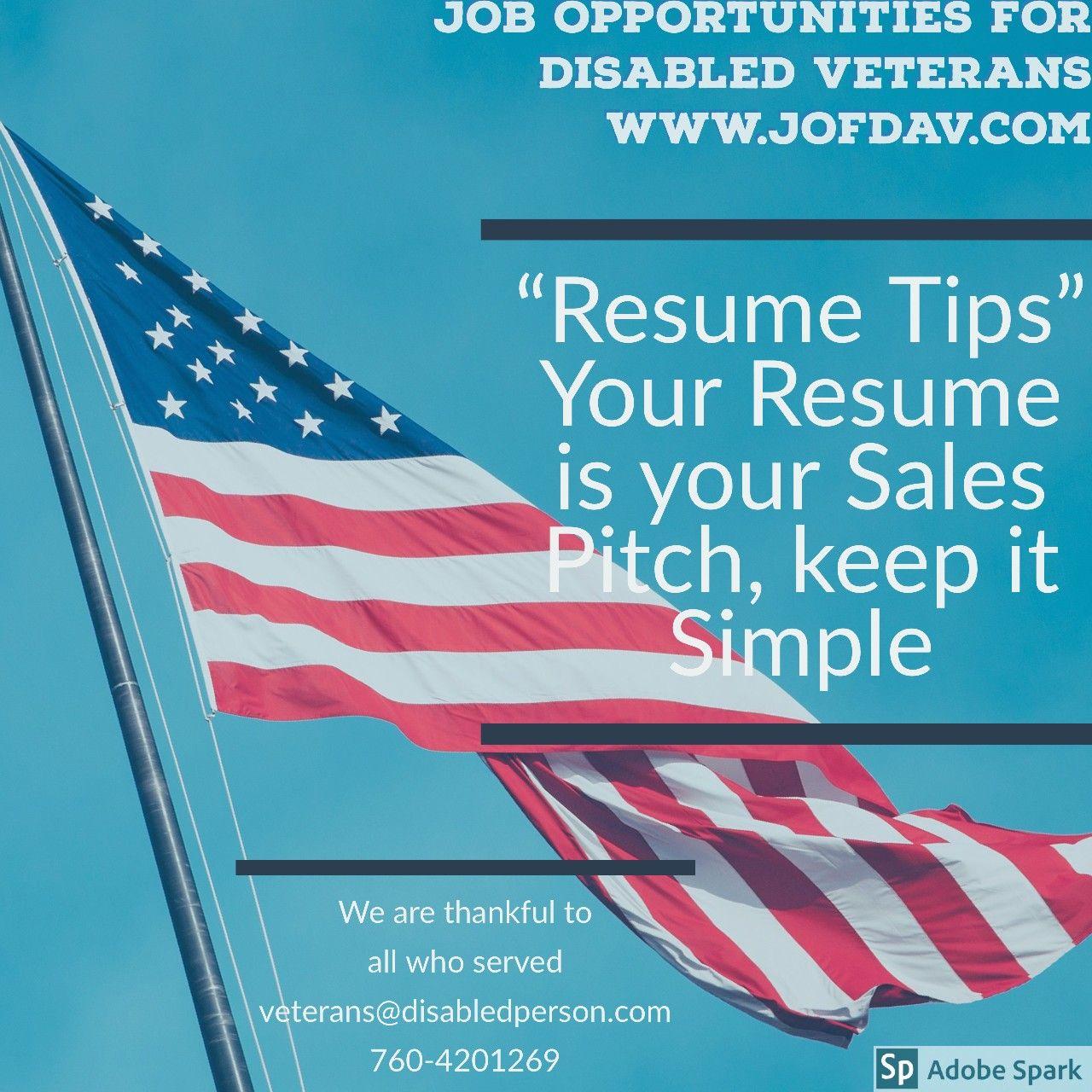Job opportunities for disabled veterans