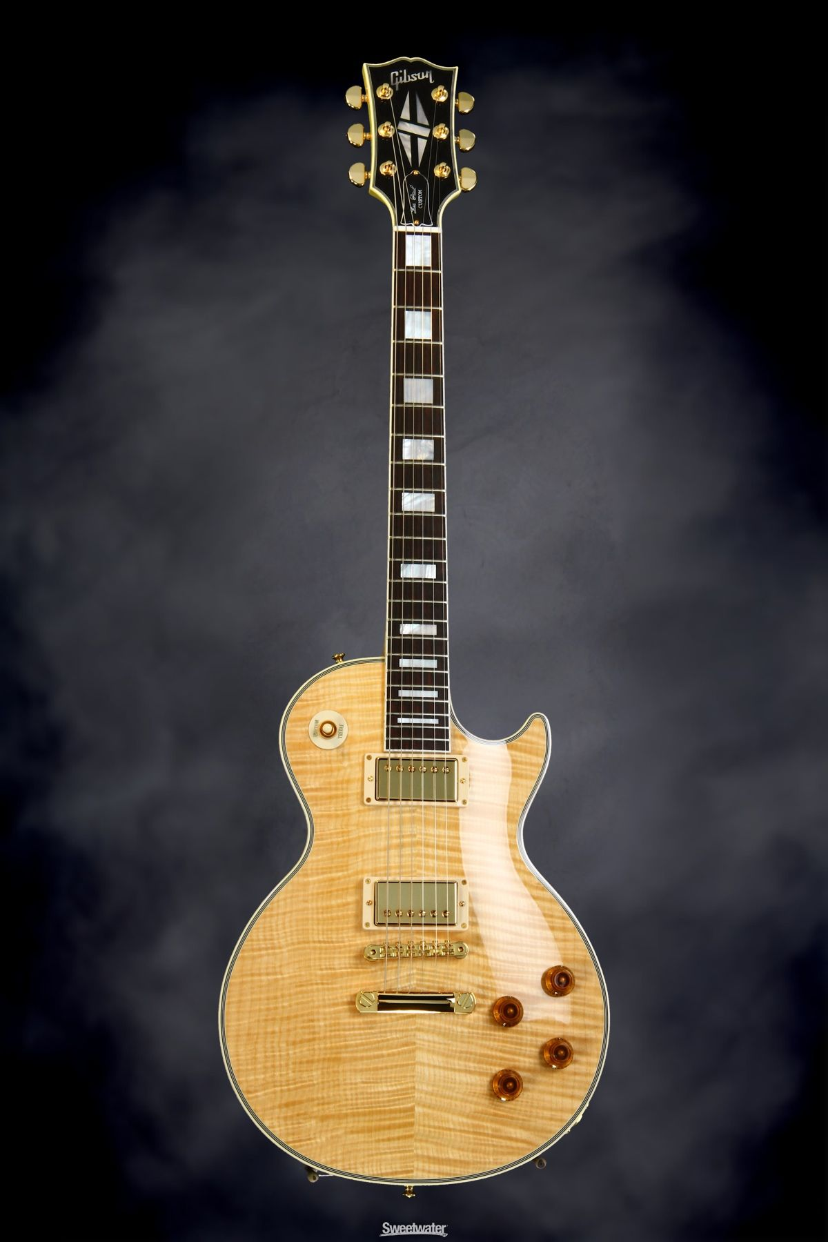 gibson custom sweetwater les paul modern custom natural flamed maple neck. Black Bedroom Furniture Sets. Home Design Ideas