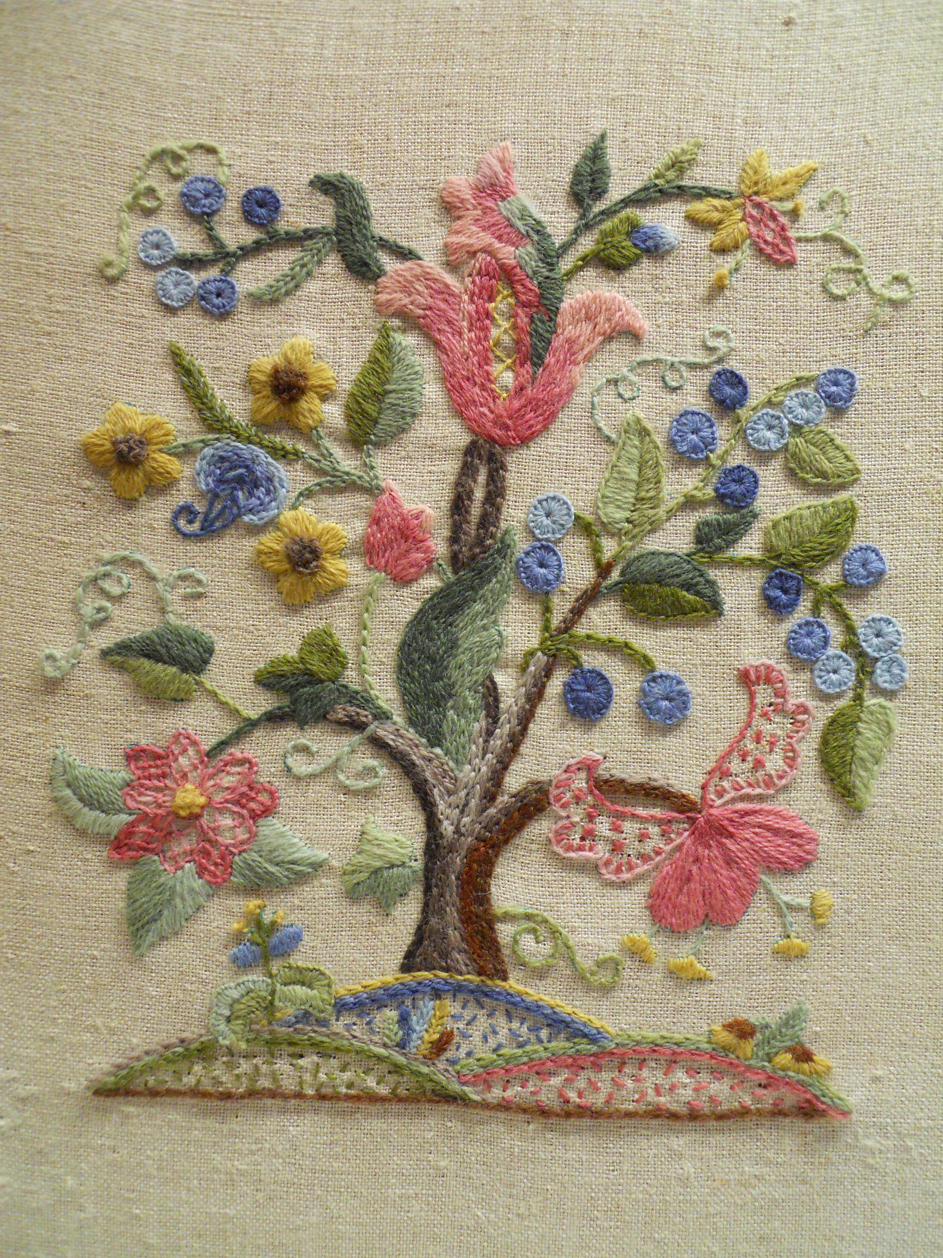 Elsa Williams Gardner Tree Crewel | bordados | Pinterest | Bordado ...
