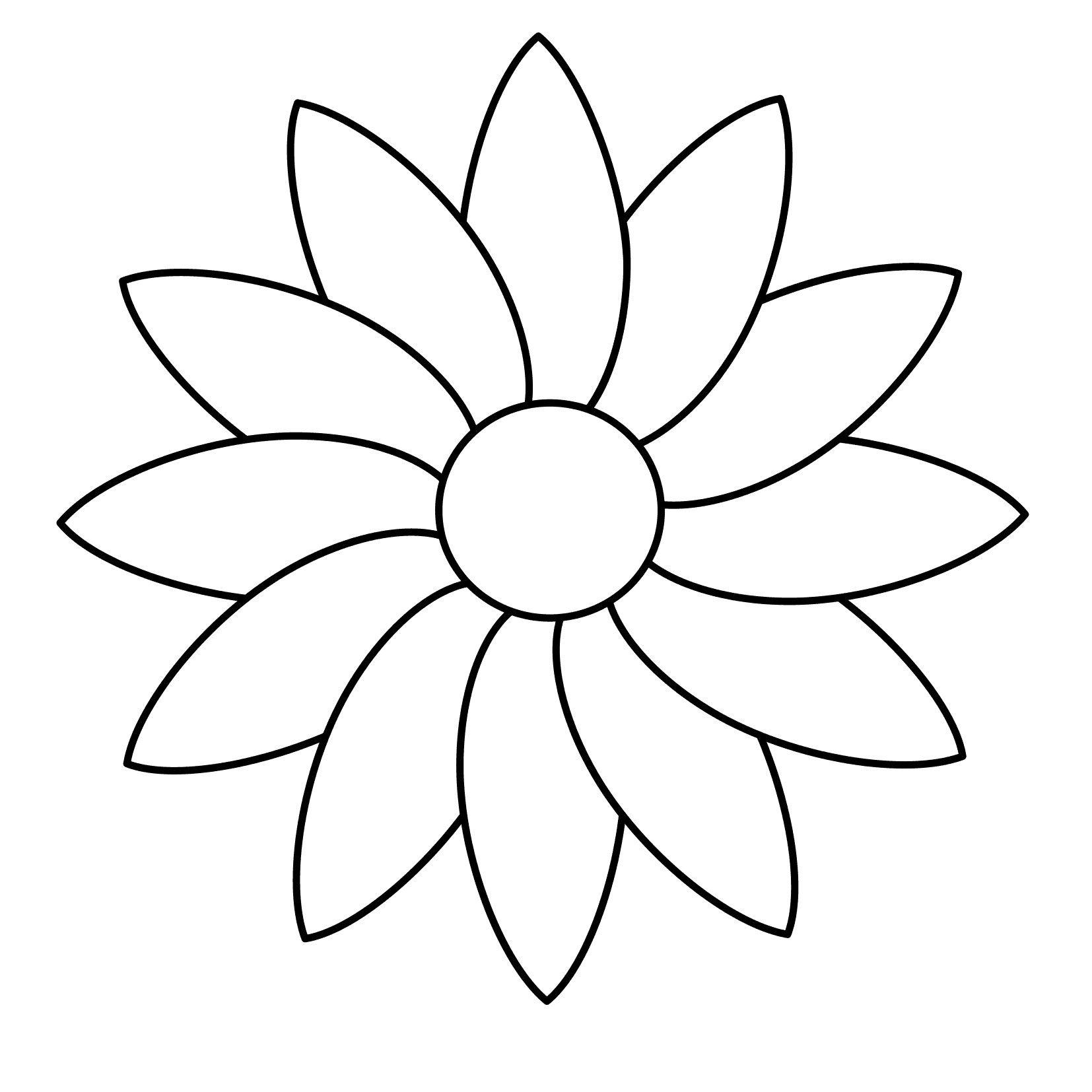 Malvorlagen #Malvorlagenkostenlos  Flower drawing, Printable