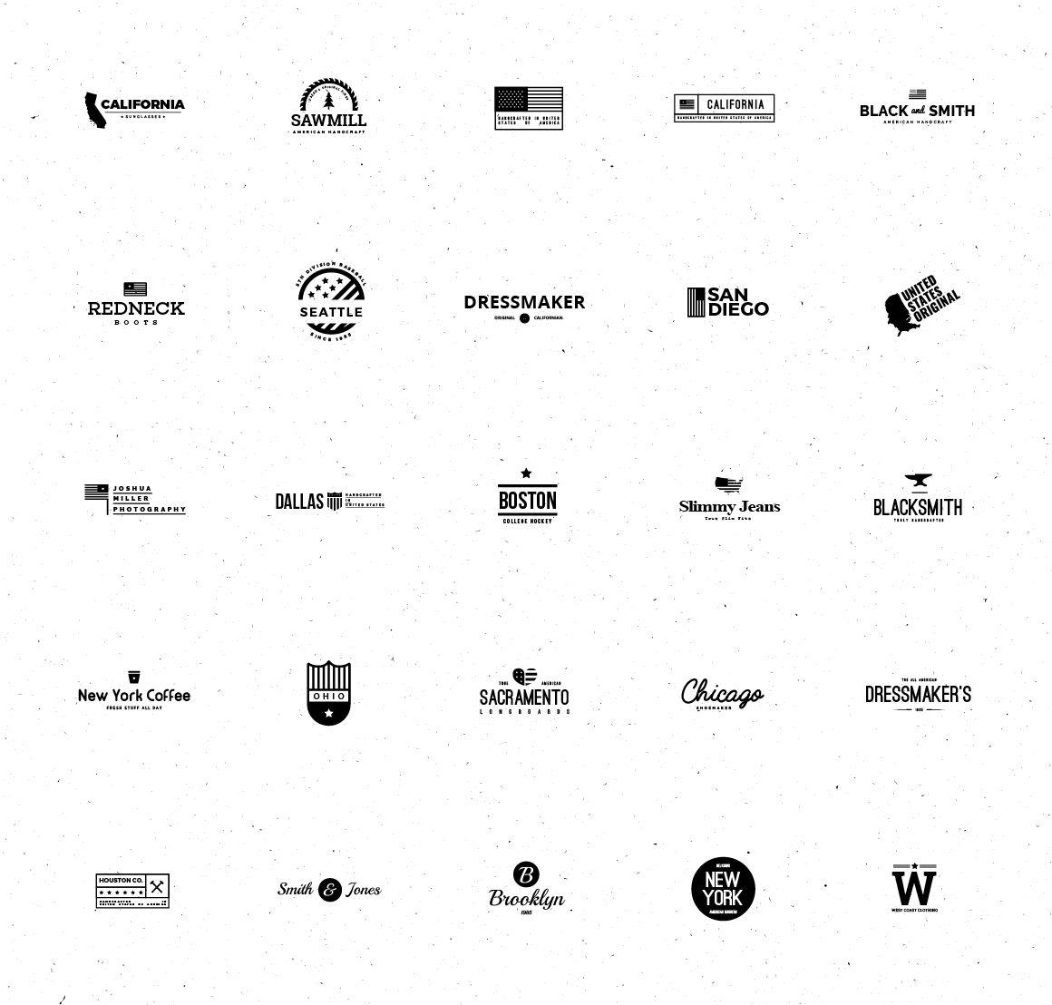25 American Minimal Vintage Logos Vintage Logo Vintage Logo Design Logo Templates