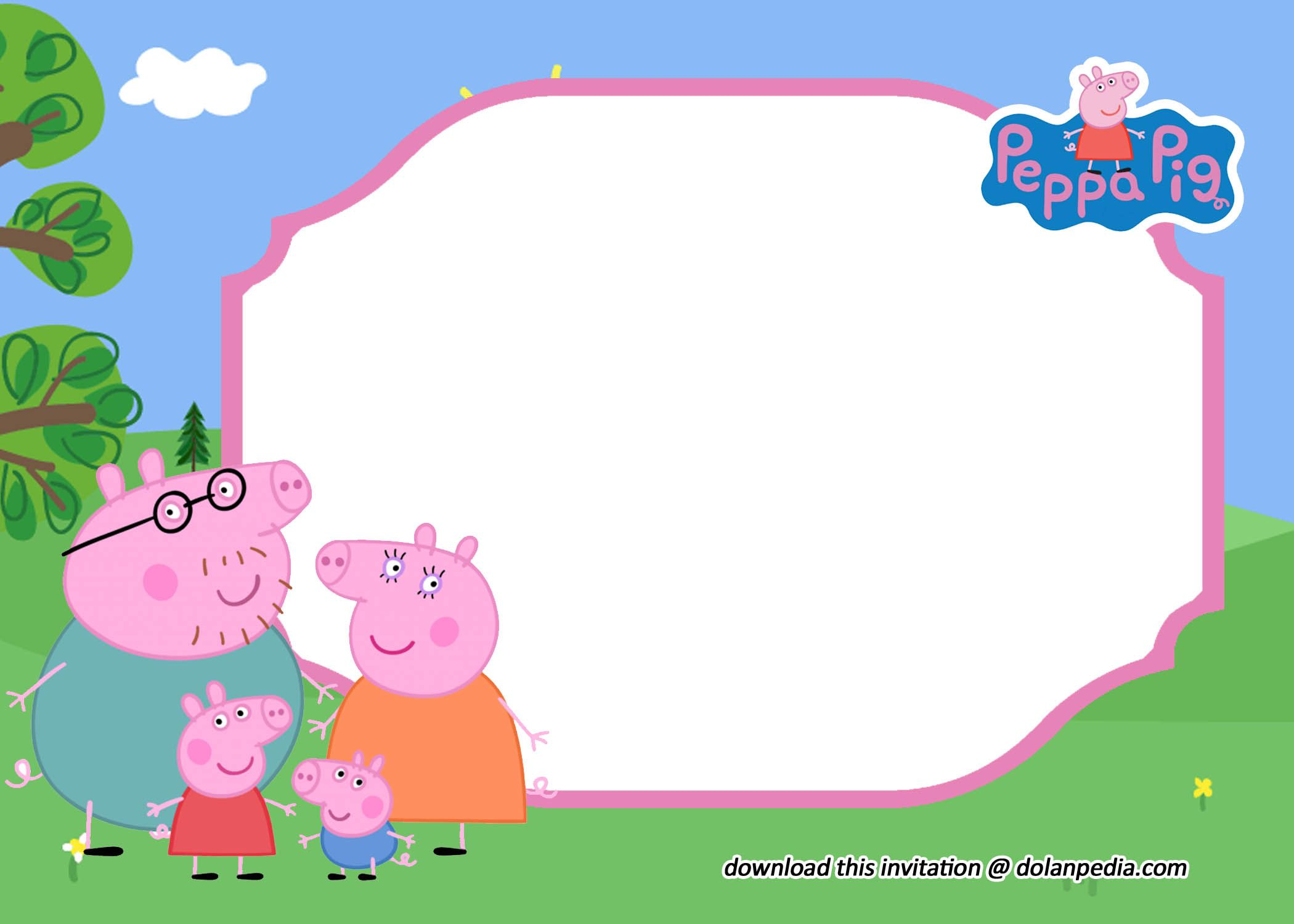 Free Editable Peppa Pig Invitation Templates Pig Invitation Peppa Pig Invitations Peppa Pig Birthday