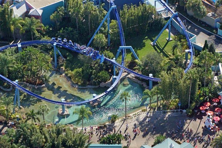 Florida east coast seaworld orlando theme parks rides
