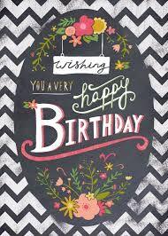 Resultado De Imagem Para Happy Birthday Chalkboard