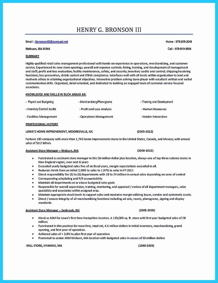 Assistant Store Manager Job Description Resume Elegant Store Assistant Manager Resume That Can Bag You Manager Resume Project Manager Resume Resume
