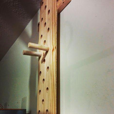 diy climbing peg board  diy gym equipment diy home gym