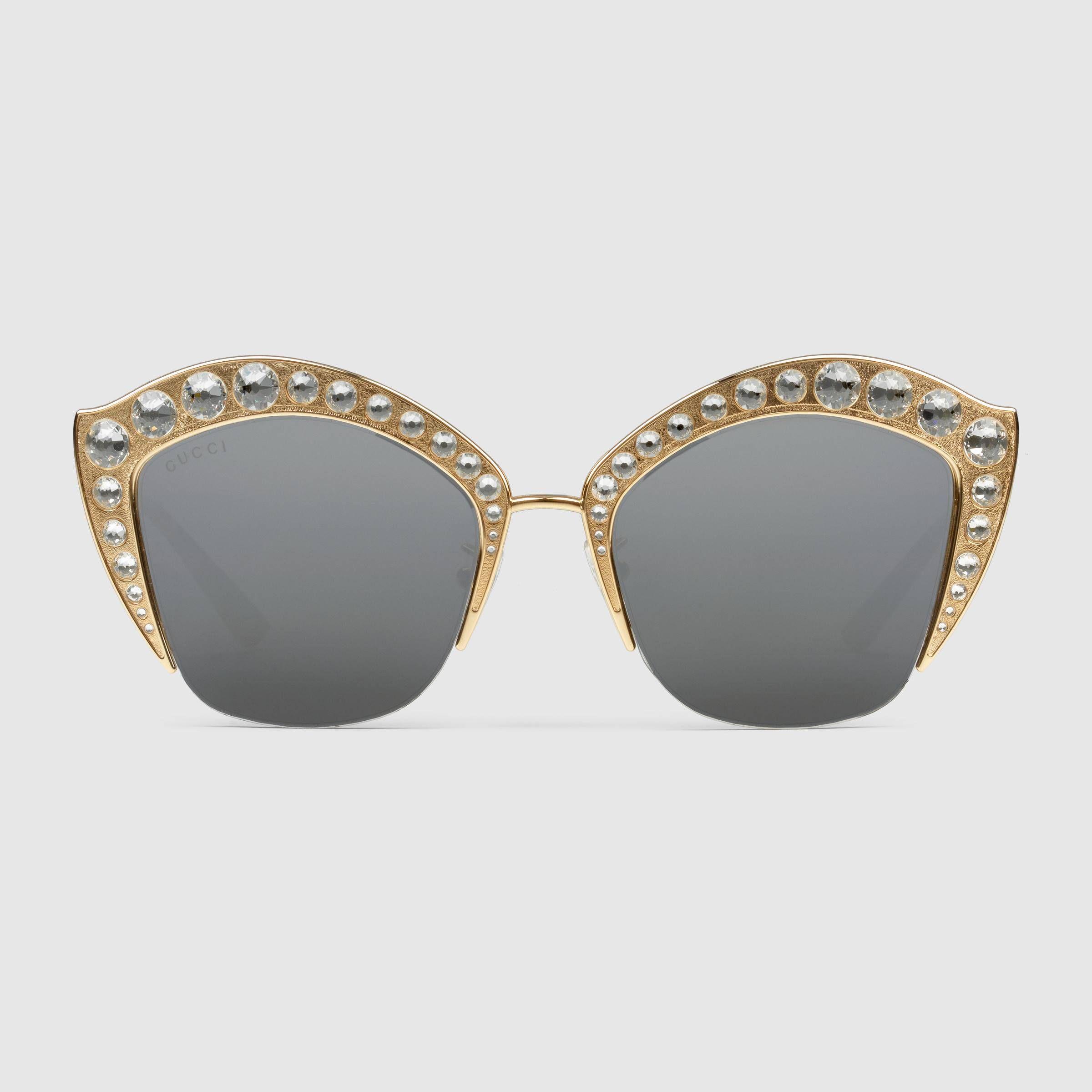 c5c58e361e7084 Lunettes de soleil œil-de-chat avec cristaux   Glasses   Pinterest ...