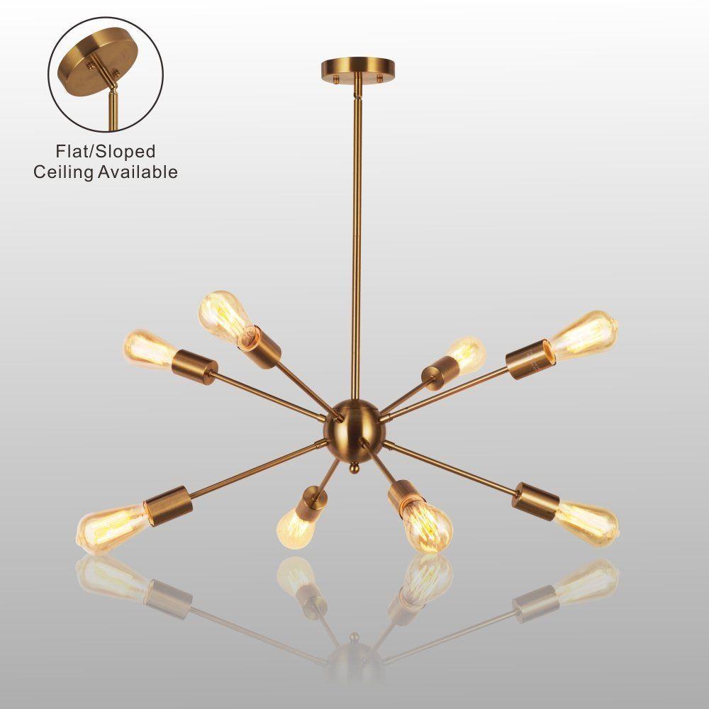 Amazon sputnik chandelier light vinluz 8 lights brushed brass amazon sputnik chandelier light vinluz 8 lights brushed brass modern pendant lighting arubaitofo Images