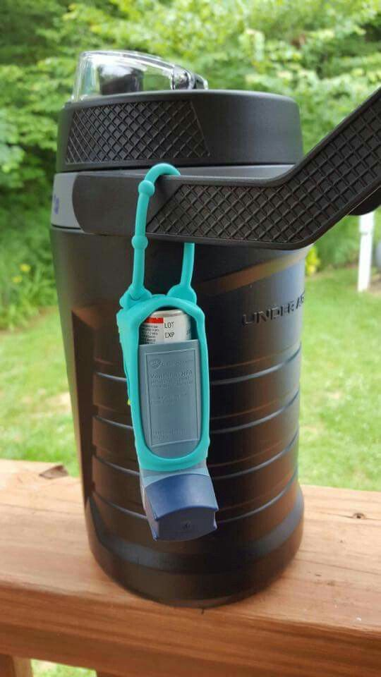 Use A Hand Sanitizer Holder To Put You Inhaler In When Outdoors