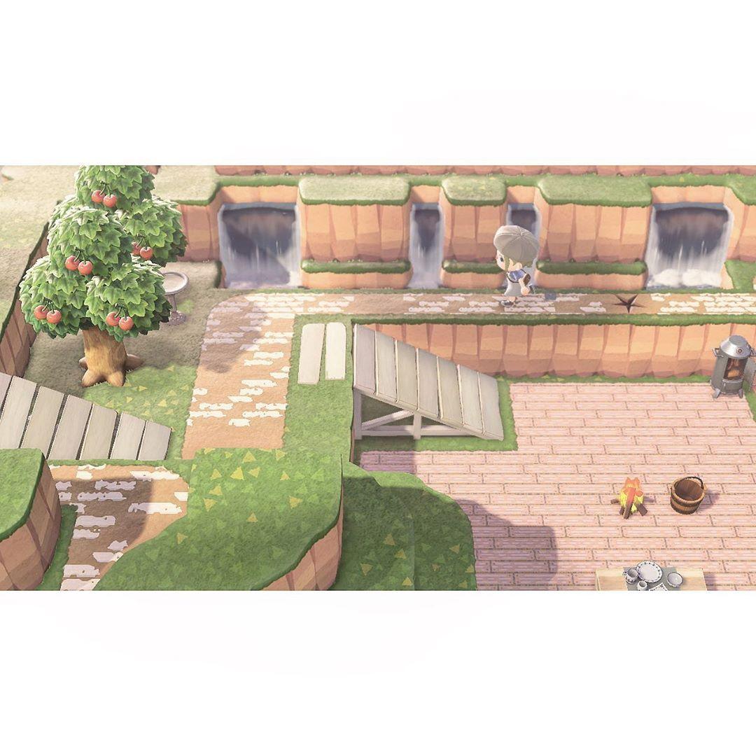 あつ森噴水広場作り方