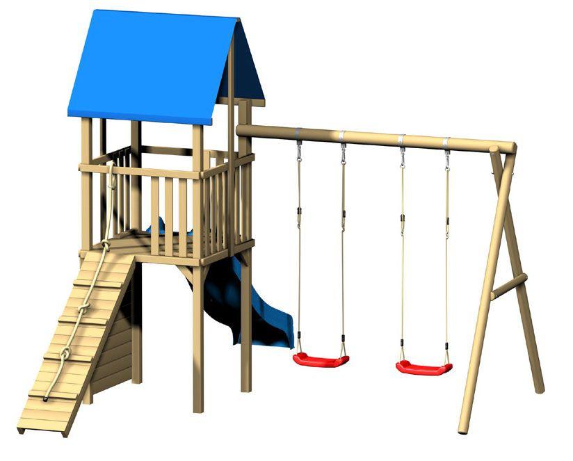 Parques infantiles de exterior juegos madera pinterest backyard and patios - Parque infantil de madera ...