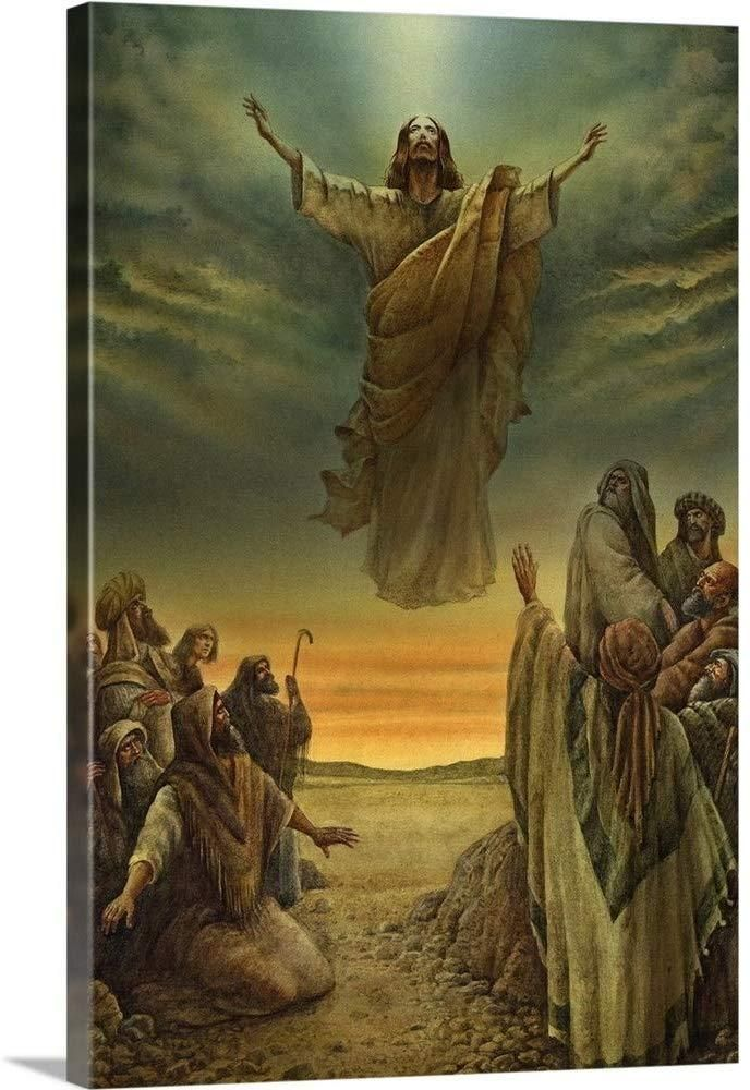 The Bodily Ascending Of Jesus Christ Canvas Art Print Jesus Wall Art Jesus Artwork Canvas Art Prints