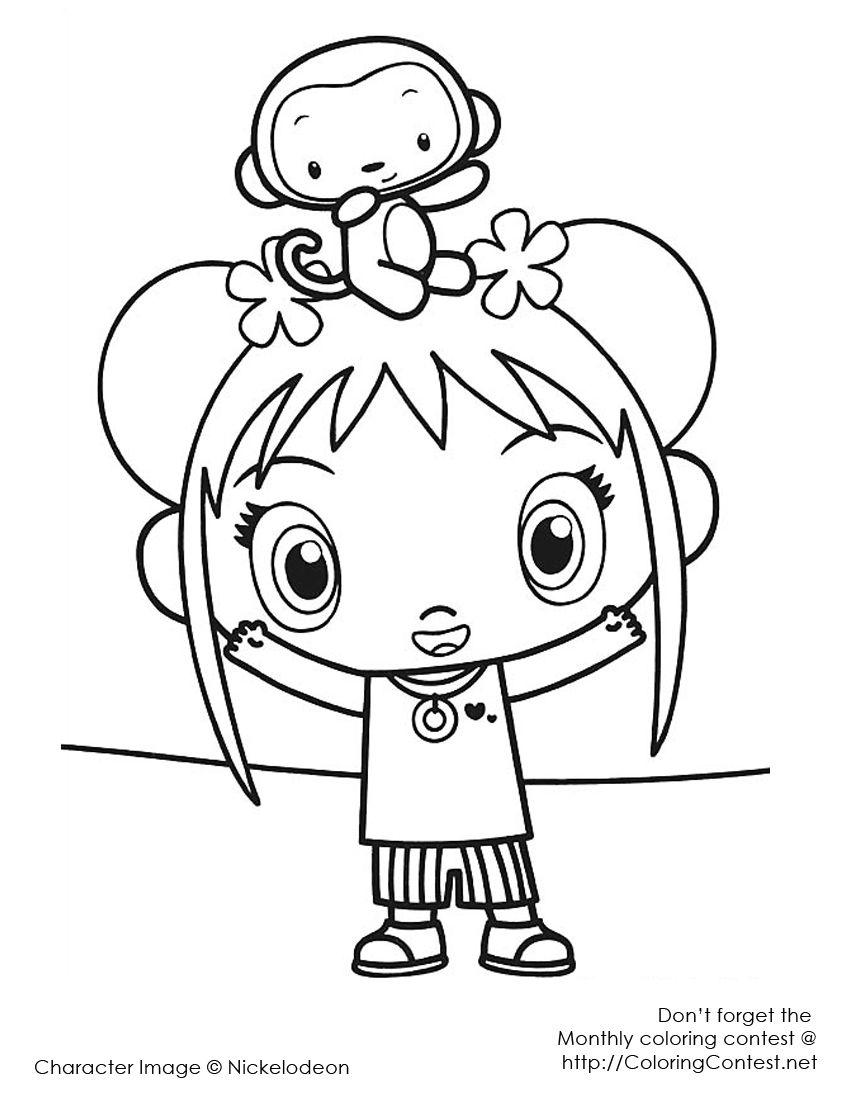 Kai Lan | Kids\' Coloring Pages | Pinterest | Kai lan