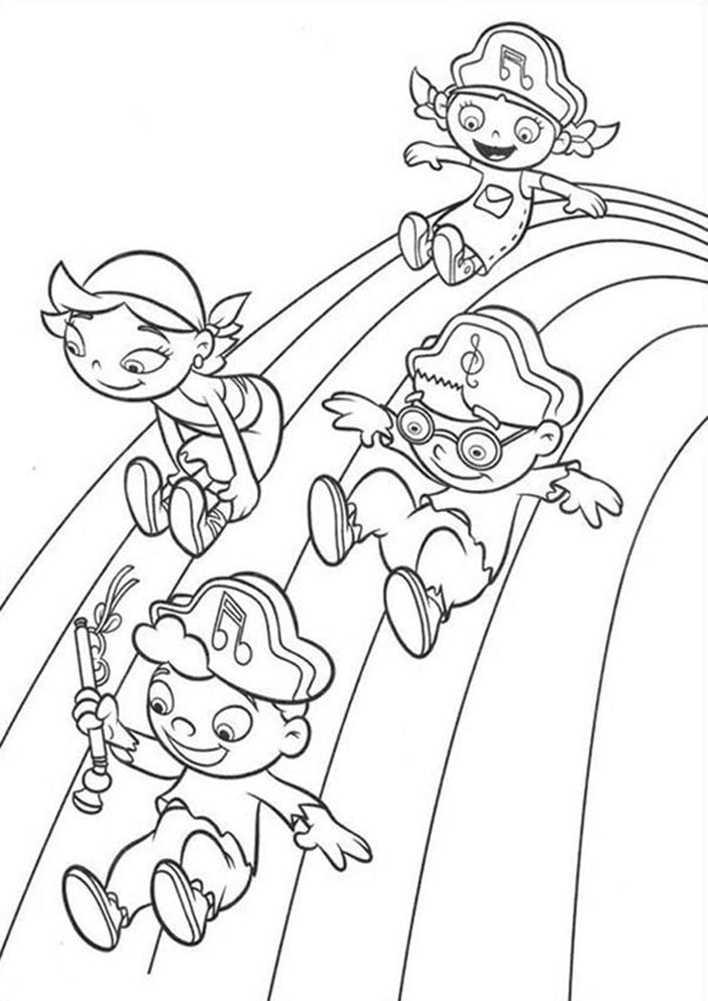 Free Easy To Print Rainbow Coloring Pages Coloring Pages Princess Coloring Pages Little Einsteins [ jpg ]
