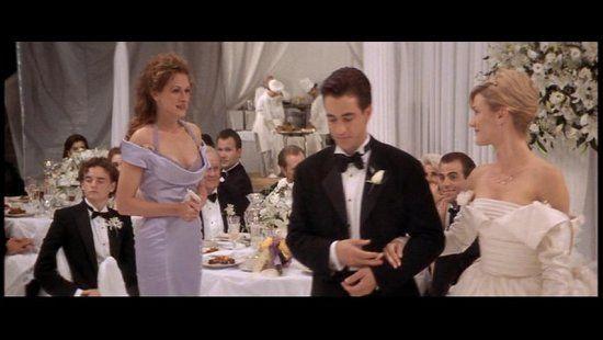 My Best Friends Wedding Kim S Wedding Dress Cameron Diaz Tv Weddings Wedding Dresses Wedding Movies