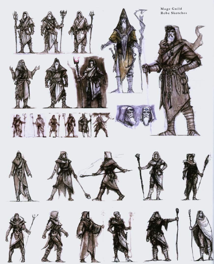 Skyrim Mage Guild From Artbook Skyrim Art Elder Scrolls Art Character Design