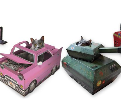 A Company Is Making Cardboard Planes Tanks Fire Engines And - This company makes cardboard tanks houses and planes for cats and theyre perfect