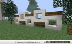 Minecraft Modern Fence Designs Google Search Minecraft Modern