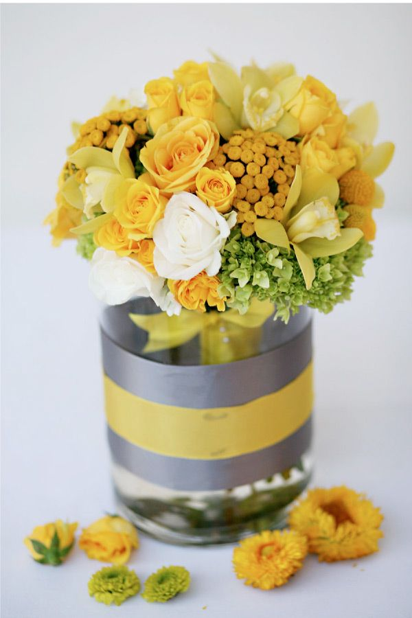 Yellow And Gray Wedding With Style Pinterest Grey Weddings Gray