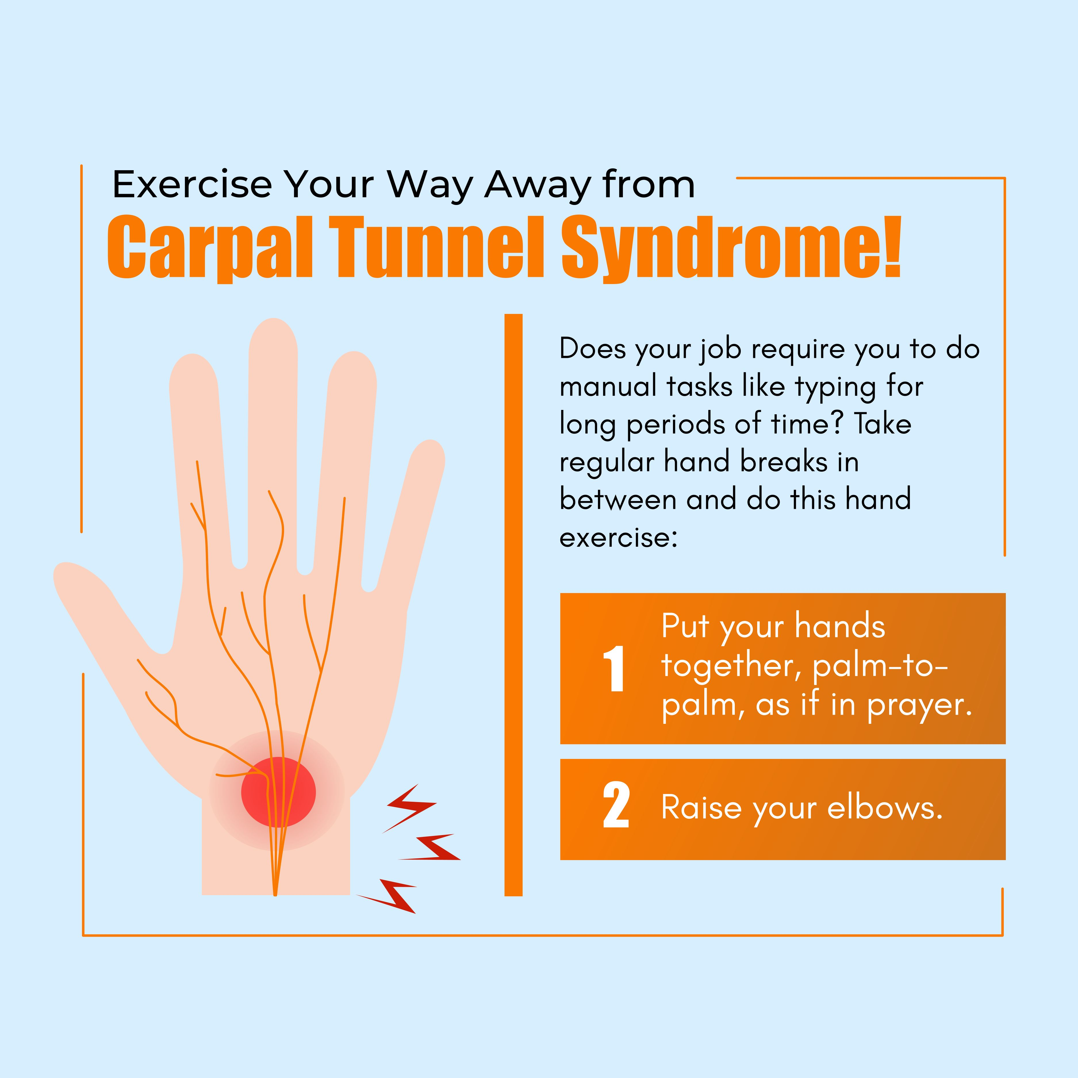 Exercise Your Way Away from Carpal Tunnel Syndrome!