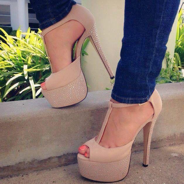 Stiletto heels platform, Stiletto heels