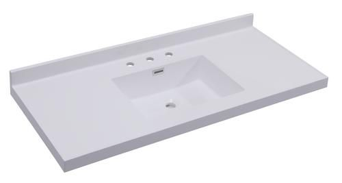 Tuscany 49 X 22 White Square Vanity Top Menards 139 99