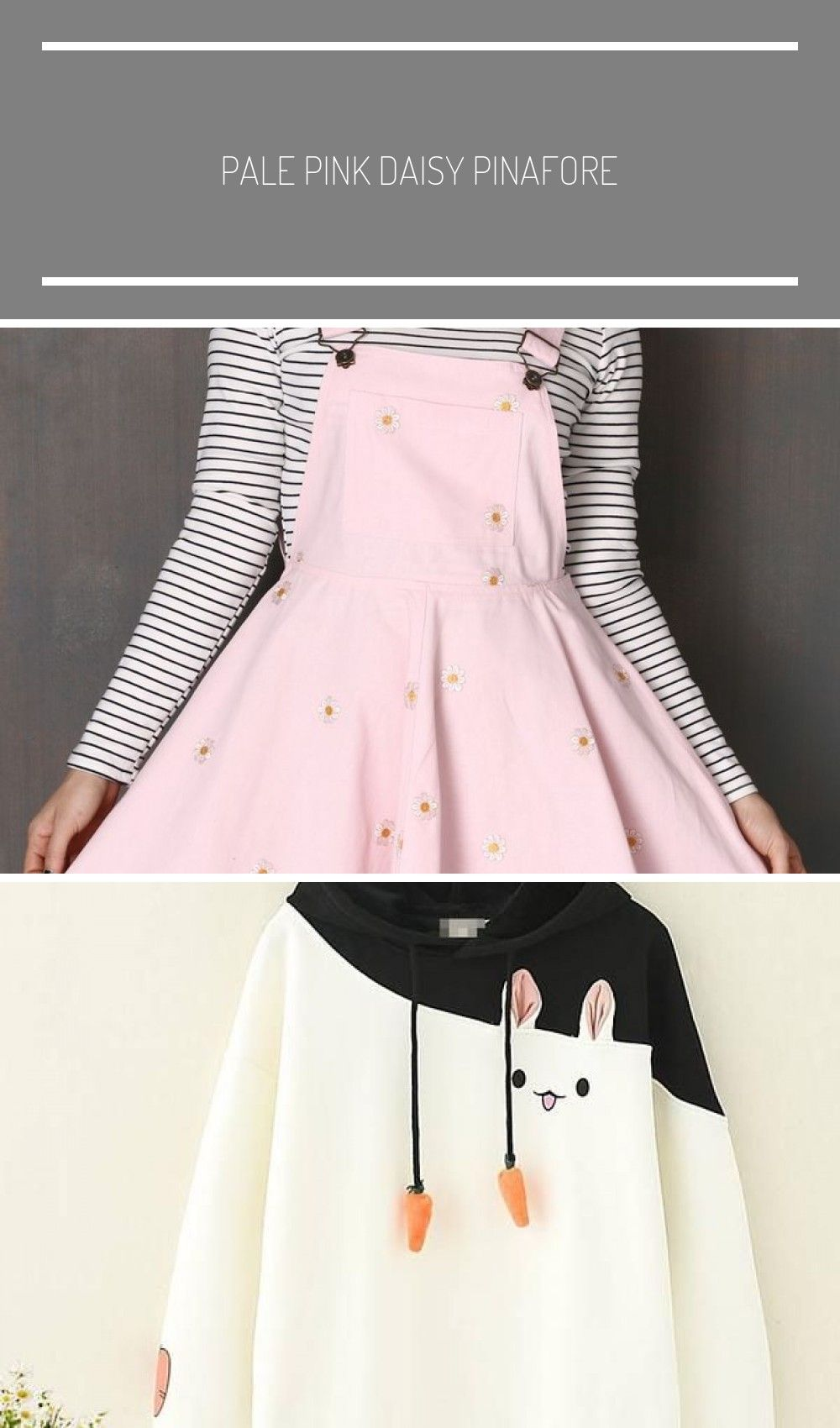 Fashion clothes Pale Pink Daisy Pinafore