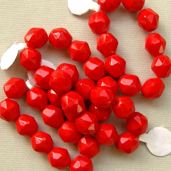 Red 10mm Glass Beads by XOSupplies