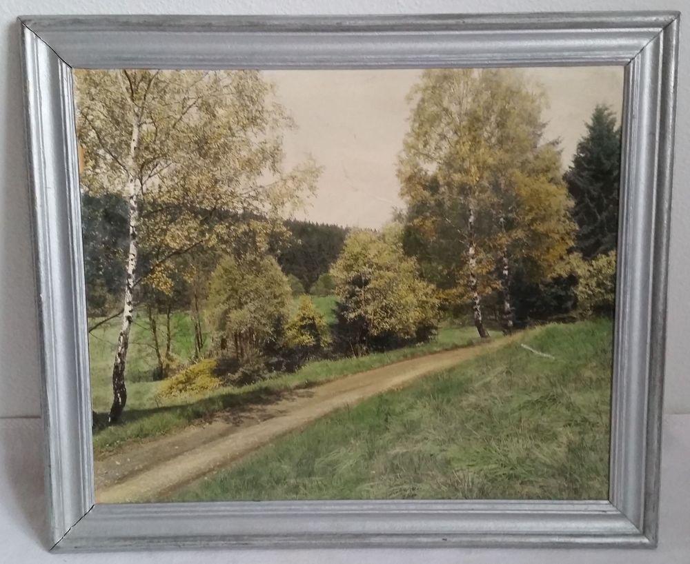 Verkaufe einen alten Holz-Bilderrahmen mit einem Kunstdruck auf ...