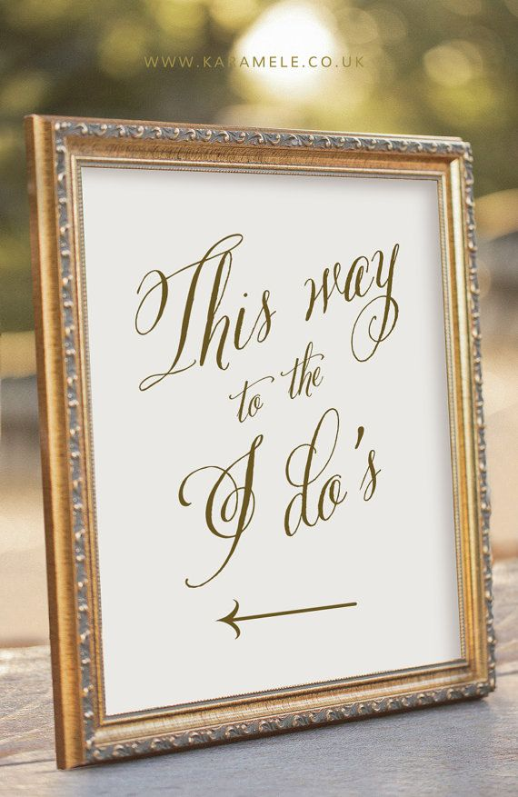Arrow Wedding sign / This Way to the I do's sign