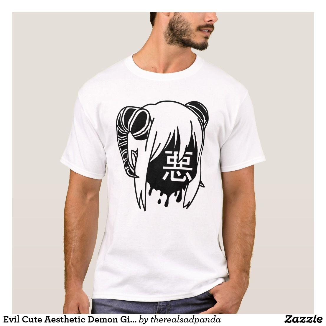 Evil cute aesthetic demon girl tshirt with