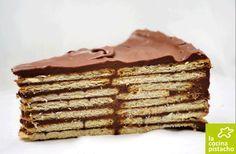Tarta de galletas con chocolate:   20 Recetas deliciosas que puedes hacer con galletas María
