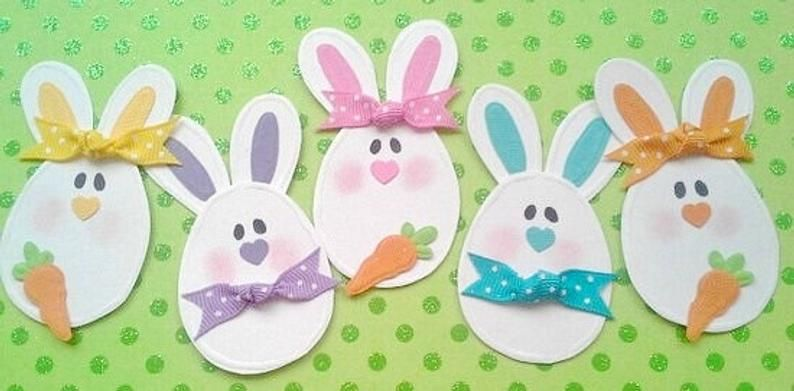 White Bunny Rabbit Die Cut Shapes Embellishments Toppers Card Making etc x 3