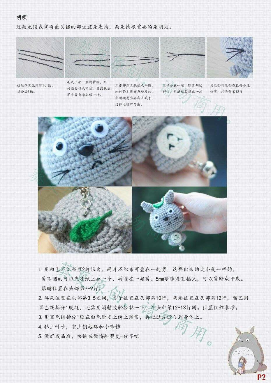 龙猫挂件 2 | Crochet | Pinterest | Llaveros, Virgen de Guadalupe y ...