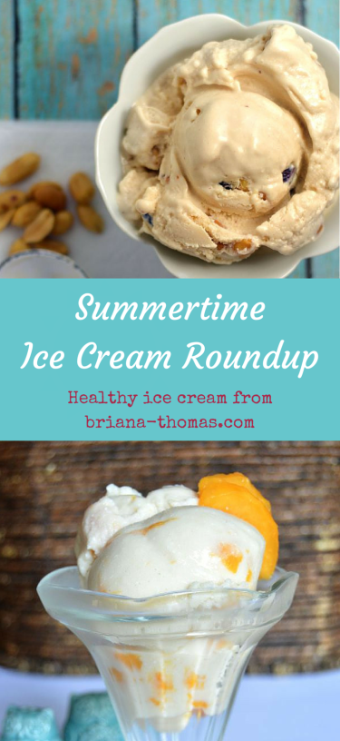 A Healthy Ice Cream Roundup for National Ice Cream Month #creamdesserts