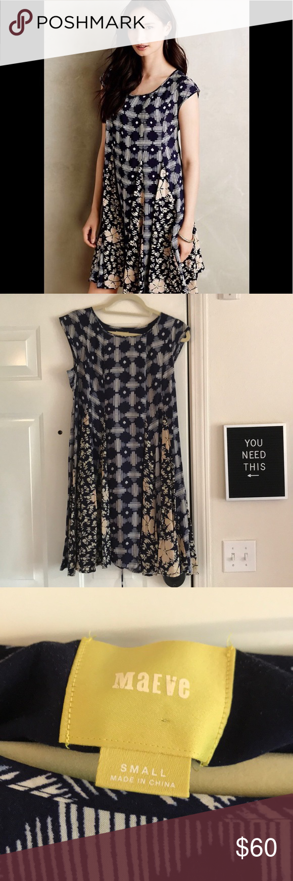 b544e8952d81 Maeve Indiga Swing Dress Anthropologie Maeve Swing Dress! Adorable Swing  Dress perfect to transition from summer to fall. Lace up detail and tassels  on the ...