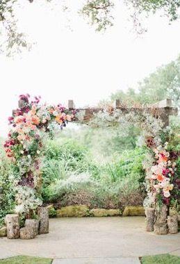 Kate Spade Texas Wedding Arch