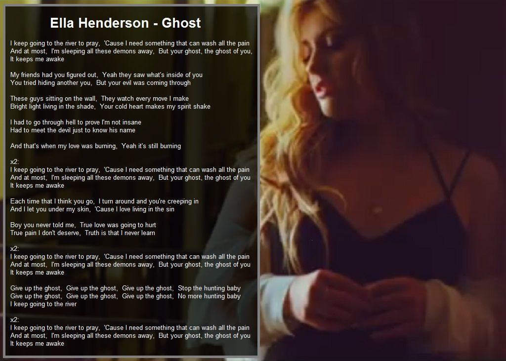 Ella Henderson - Ghost lyrics - Give up the ghost - stop the ...