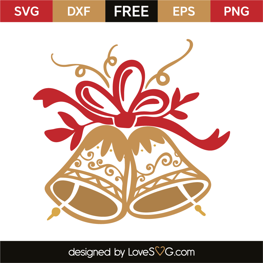 Download Christmas bell | Christmas svg files, Cricut projects ...