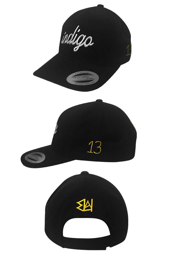 Indigo Velcro Hat Black Headwear The Underachievers Headwear Online Store On District Lines Headwear Clothing Company Hats