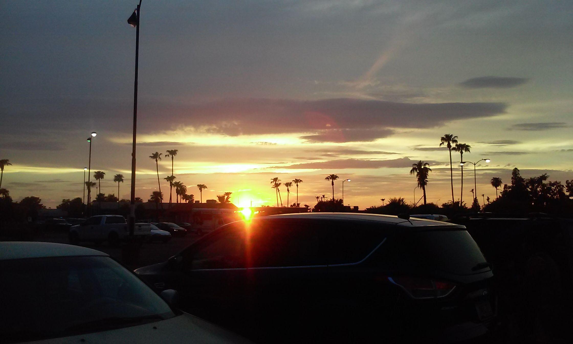 Sunset. -VP