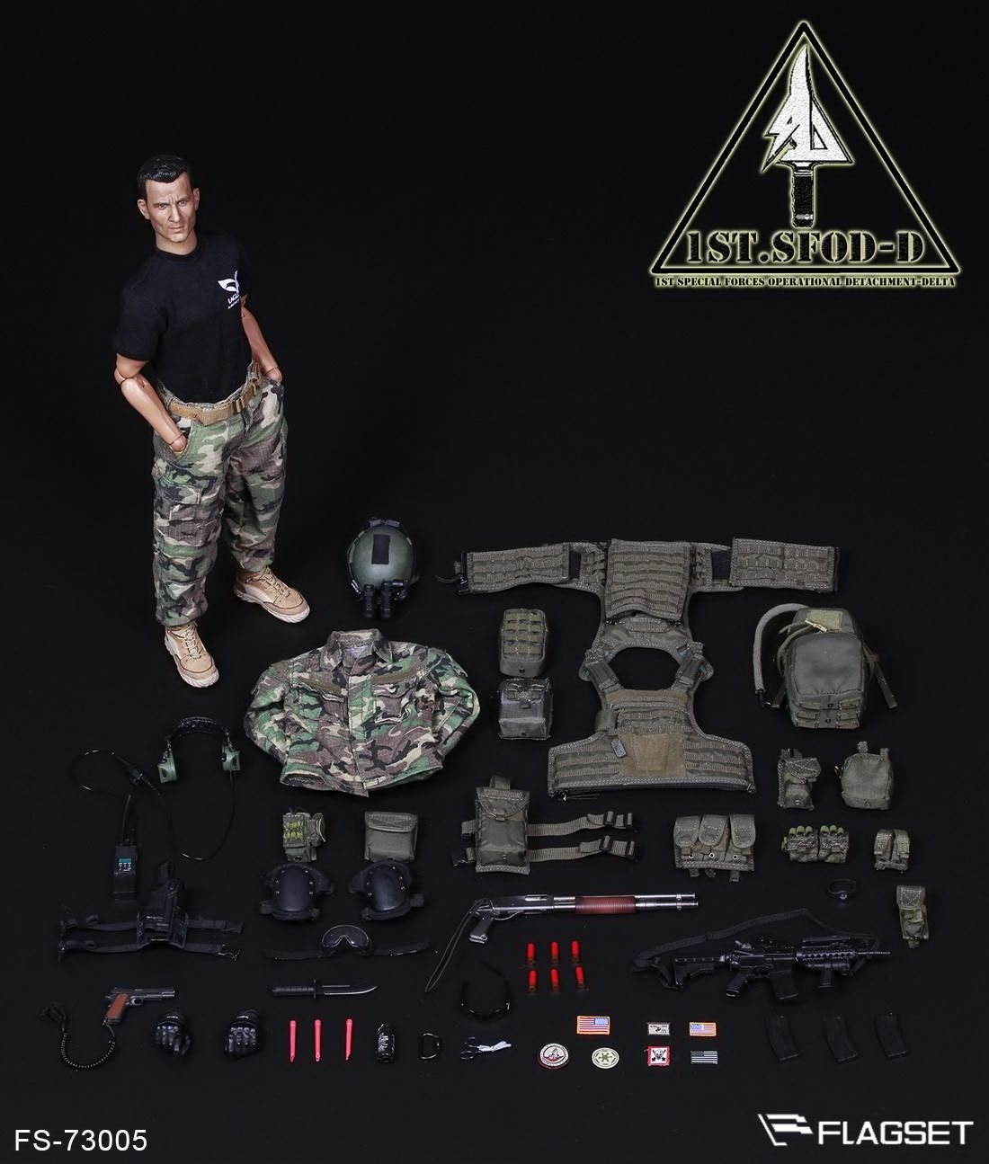 FLAGSET 1:6 scale 73005 1st-SFOD Delta Force
