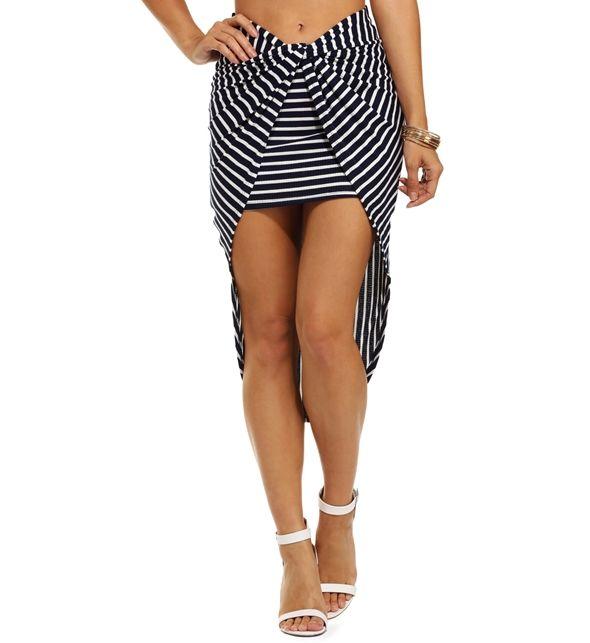 FINAL SALE- Navy Pier Love Wrap Skirt