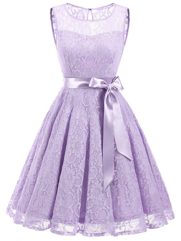 Vintage Purple Short Bridesmaid Dresses